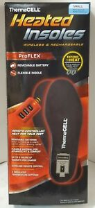NIB! ThermaCell HEATED INSOLES ProFLEX RECHARGABLE WITH REMOTE SMALL #HW20-S