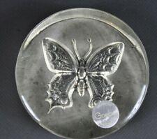 Göbel Kristallglas Briefbeschwerer Schmetterling  70er 70s Glasfigur 16BG4