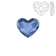 Swarovski Crystal Hotfix 2808 Flat Back Heart Denim Blue 14mm Pack of 1 (K73/9)