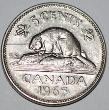 Canada 1965 SB 5 Cents Elizabeth II Canadian Nickel Five Cent Small Beads