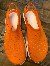 Crocs Swiftwater Wave Sandal. Mens 9. Orange/white. No Reserve