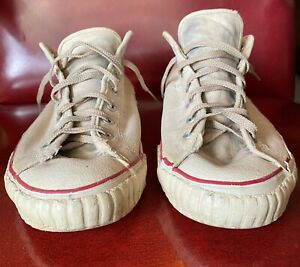 Rare Vintage 1950s Mens Converse low-top Chuck Taylors. Made in the USA.