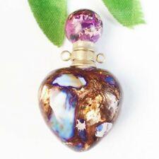 Gold Copper Bornite Heart Charm Essential Oil Diffuser Bottle Pendant