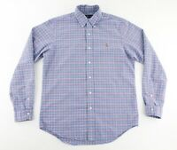 Polo Ralph Lauren Mens Medium Button Down Long Sleeve Oxford Shirt Plaid Checks
