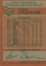 Carol Vadnais 1978 Topps Autograph #85 Rangers