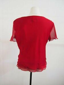 Liz Jordan Red 2 Piece Set Size 14