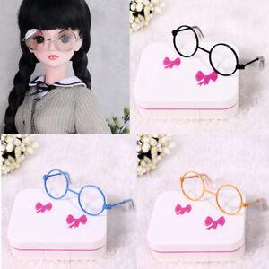 1/3 BJD Cute Retro Round Eye Glasses Metal Frame DIY Dress up Accessories