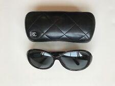 Black Oversized Chanel Sunglasses - Prescription Lenses - Chanel Case