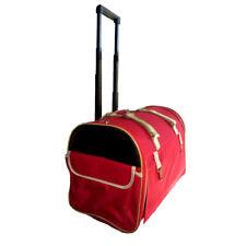 Bolso Trolley para perros y gatos con ruedas en tela roja
