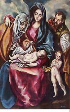 Alte Kunstpostkarte - Museo del Prado - Sagrada Familia