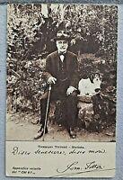antica Cartolina parlante - senatore Tommaso Tittoni Statista ,1914