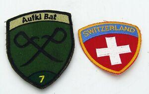2 x Schweizer Armee Abzeichen, BADGE, Truppenabzeichen, Military, Switzerland