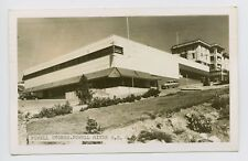 Powell River, BC, Canada - 1953 MID CENTURY MODERN ARCHITECTURE & OLD CARS RPPC
