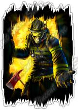 """Firefighter Rescue Fire Flame Fireman 911 Car Bumper Vinyl Sticker Decal 4""""X5"""""""