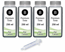 1000ml recarga tinta fürcanon PIXMA mg2150 mg3150 mg4150 mg2155 mg2250 mg3250 BK