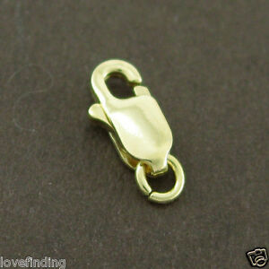 Genuine 18CT Solid Yellow Gold Parrot Clasp 7mm Italy Made