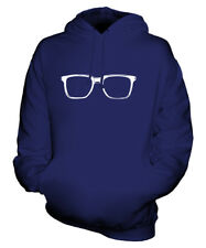 GEEK GLASSES UNISEX FASHION PRINT HOODIE TOP HIPSTER SWAG SPECTACLES