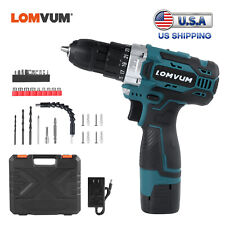 LOMVUM 16.8V Drill 2 Speed Electric Cordless Drill/Driver with Bits Set &Battery