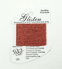 GLISTEN Sparkling Braid #86 Briar Rose Needlepoint Thread by Rainbow Gallery