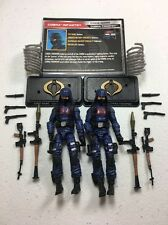 GI Joe Cobra 50th Anniversary Figure Lot TRU Cobra Trooper x2 Army Builder