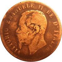 1867 10 CENTESIMI - ITALY - EMANUELE II. 1867   #AUG76
