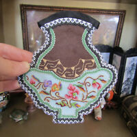 Dollhouse CHINESE EMBROIDERED PETIT POINT SILK RUG Artisan Artist Asian Tapestry