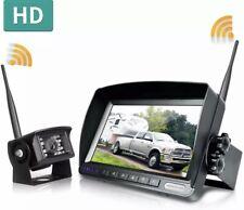 New listing Zeroxclub Car Wireless Parking Backup 2 Camera Kit 7'' Monitor Rear View System