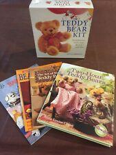Complete Teddy Bear Kit Alicia Merrett New in Box + 4 Teddy Bear making books