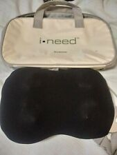Brookstone  I-NEED  Lumbar Back Shiatsu Massage Pillow Massager Travel Bag