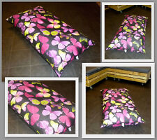 LARGE BUTTERFLY BEAN BAG FLOOR CUSHION - ZIPPED REMOVABLE WASHABLE OUTER COVER