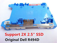 "Original Dell Optiplex 2.5""SSD - 3.5"" HDD Adapter Bracket Caddy Tray R494D F767D"