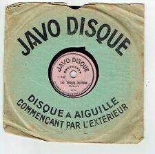 78T 15cm Pygmo Phonographe LES ENFANTS TERRIBLES Orchestre JAVO DISQUE 6754 RARE