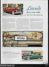 LINCOLN MOTOR CARS 1948 COSMOPOITAN 2 NEW MODELS FOR 1949 CURVED WINDSHIELD AD