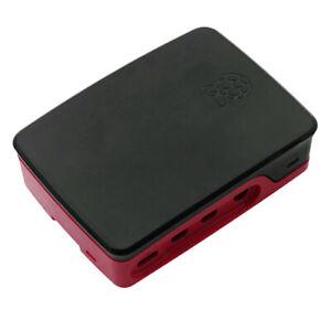 For Raspberry Pi 4B Official Case Shell ABS Plastic Pi 4 Model B Kits, Red Black