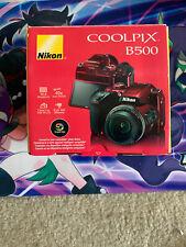 🔥NEW Nikon COOLPIX B500 Digital Camera 16MP 40x Optical Zoom WiFi Bluetooth Red