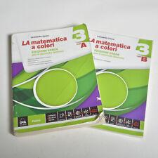LA MATEMATICA A COLORI 3 (2 tomi) ED. VERDE IN OTTIME CONDIZIONI 9788849420227