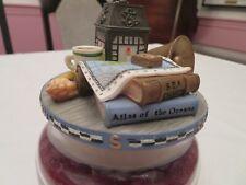 "Rare Vintage Nautical Themed ""Captain's Cabin� Candle Topper Explorer Navigator"