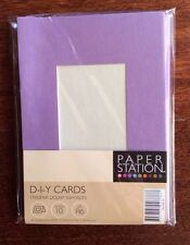 A6 METALLIC LILAC D.I.Y. CARDS, 10 pack, Paper Station, Cristina Re