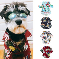 Pet Dog Hawaiian Shirt Beach Clothes Vest Floral Printed Top For S/M/L Dog GIFT