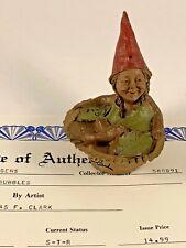 Bubbles 1984 Tom Clark Signed Gnome Figurine 1062 Coa No Story 11