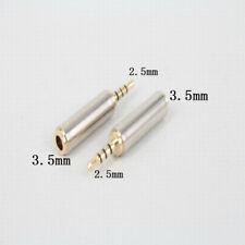 Prise Adaptateur Fiche JACK 2.5mm vers 3.5mm mâle/femelle Audio Casque Stéréo
