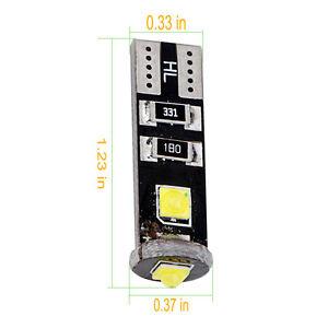 100Pcs White Canbus Led Error Free T10 194 168 W5W Cree LED 3 SMD Led light bulb