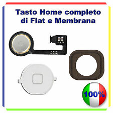 TASTO HOME BUTTON COMPLETO MEMBRANA FLEX  IPHONE 4S BOTTONE BIANCO WHITE