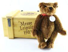 """Steiff 420351 Messe Leipzig 1903 Teddybar Club 11.5"""" Tall W/ Crate ca 2003"""