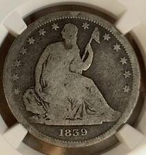 1839 ~ RARE (No Drapery) ~ Seated Liberty 50c ~ NGC AG3 ~ Error Slab, Mislabeled