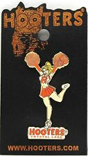 Crystal Lake HOOTERS Sexy Girl Cheerleader with Pom Pom's Lapel Badge Pin