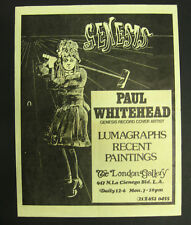 PAUL WHITEHEAD London Gallery 1975 ART EXHIBIT Promo FLYER Los Angeles GENESIS