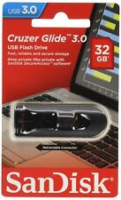 32GB SanDisk Cruzer Glide USB 3.0 Flash Drive Super Fast Genuine Sealed Pack