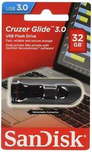 32GB SanDisk Cruzer Glide USB 3.0 Flash Drive Super Fast Genuine Sealed Pack