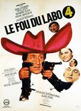 Affiche 60x80cm LE FOU DU LABO 4 (1967) Jean Lefebvre, Blier, Michel Serrault TB